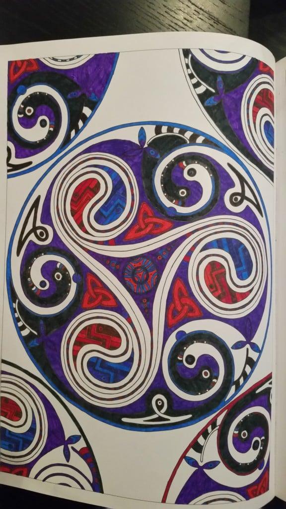 Målarböcker för vuxna, keltiska mönster #2