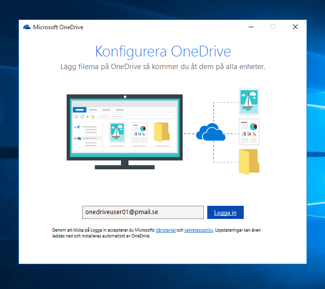 Onedrive, en säkerhet för hela familjen, Konfigurera OneDrive