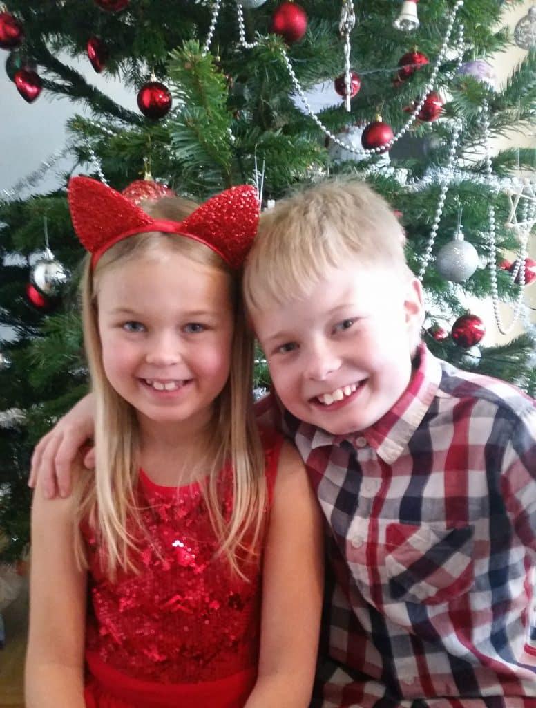 God Jul 2016. Josefin och Lukas