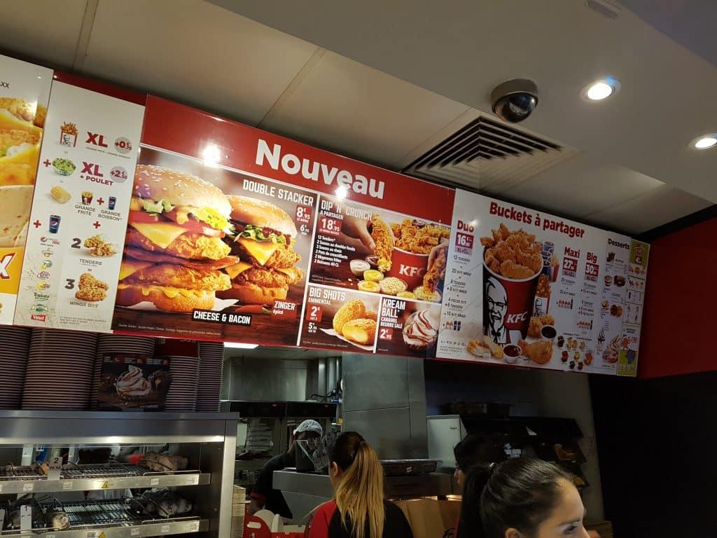 Semester och bröllopsdag i Paris. KFC nära hotellet.