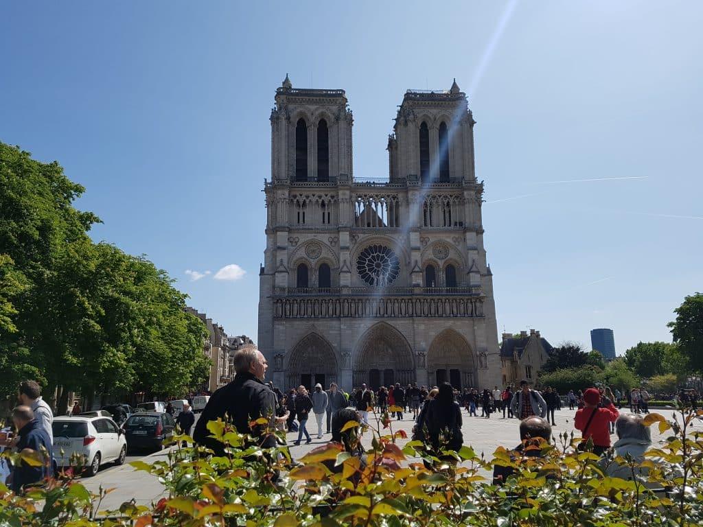 Semester och bröllopsdag i Paris, Notre-Dame de Paris
