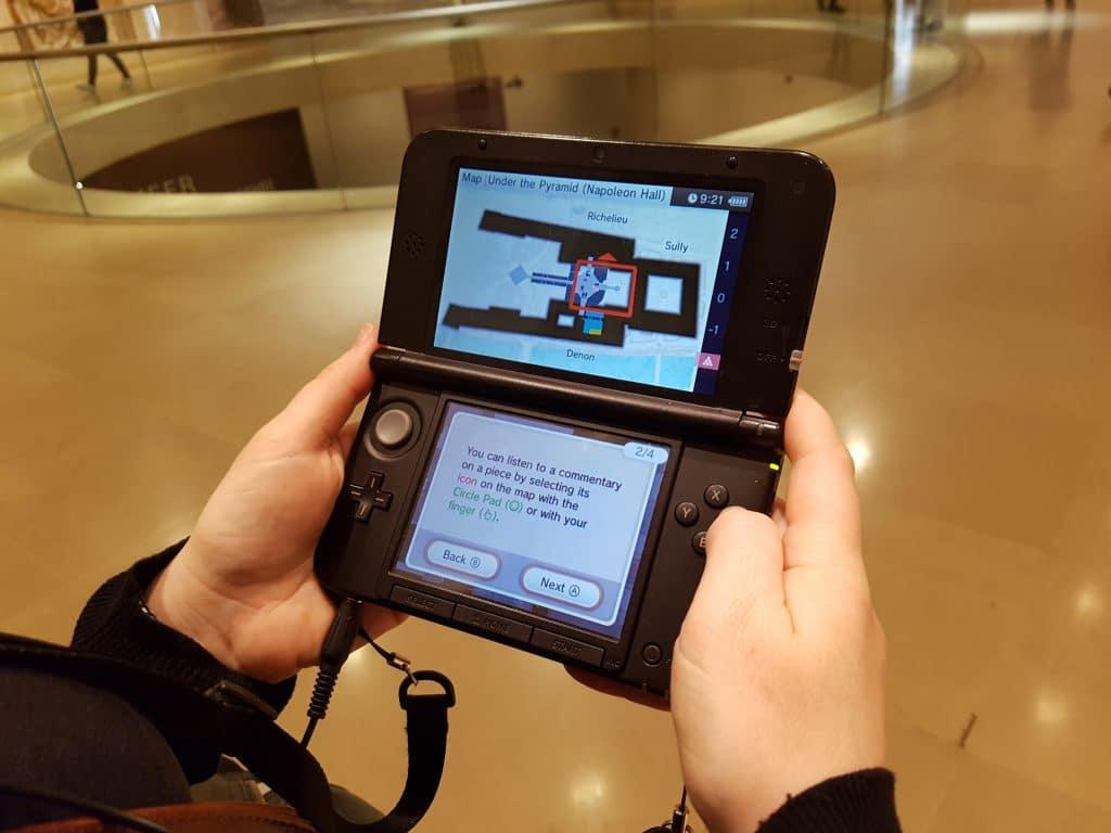 Semester och bröllopsdag i Paris, Louvrén, Nintendo 3DS