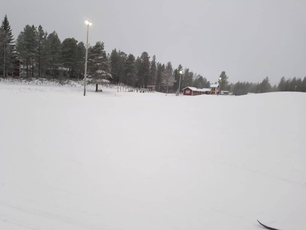 Orsa Grönklitt, torsdag 29/11. -1 och snöfall