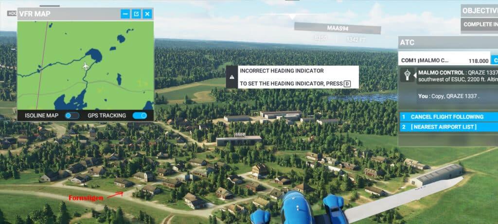 Hökerum i Microsoft Flight Simulator 2020 - Fornstigen