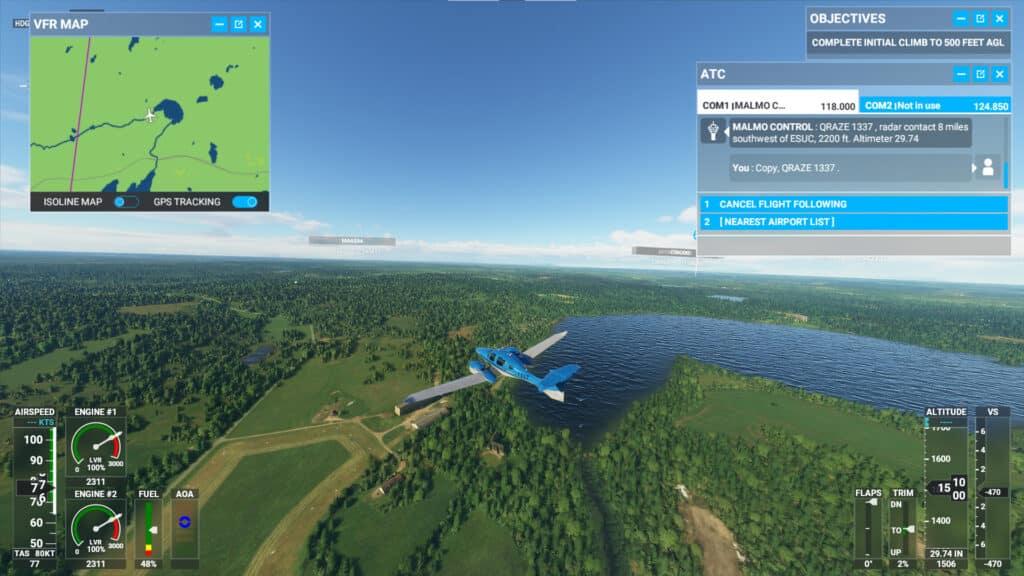 Hökerum i Microsoft Flight Simulator 2020 - Mogden