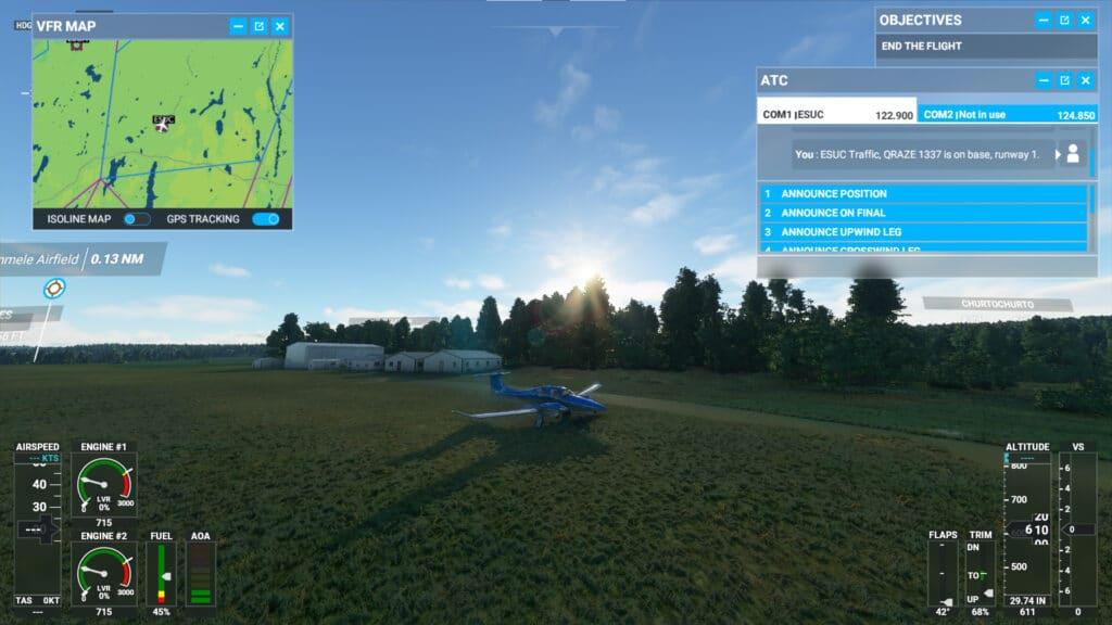 Hökerum i Microsoft Flight Simulator 2020 - Timmele