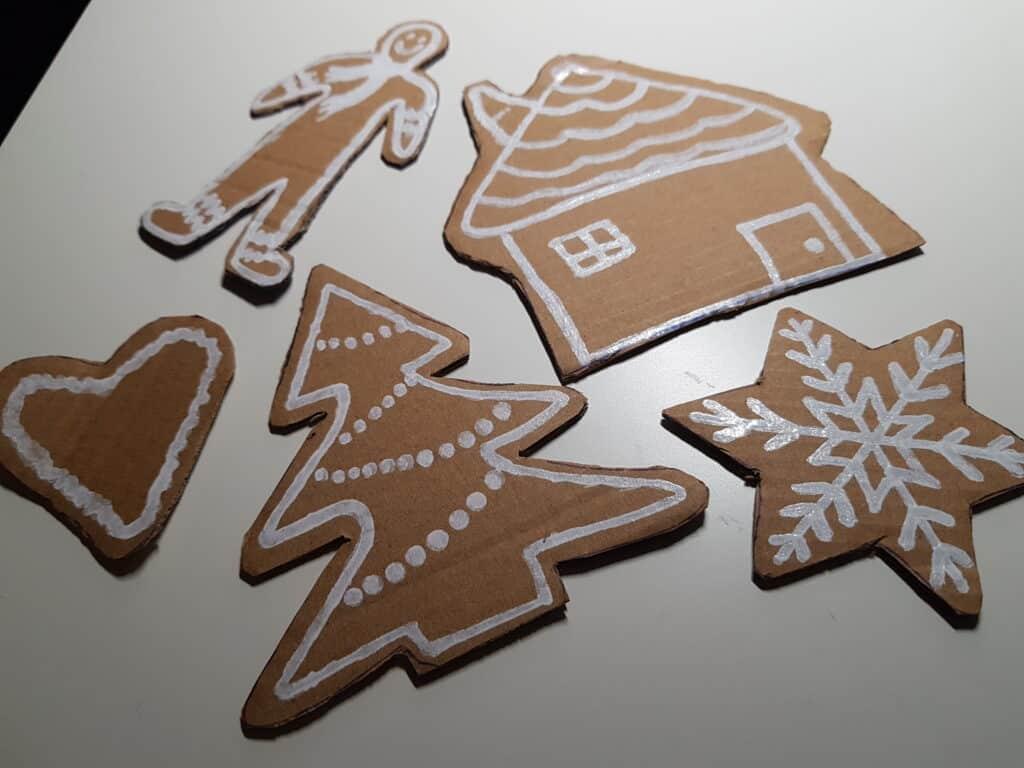 Julpyssel som är enkelt för barn pepparkakor
