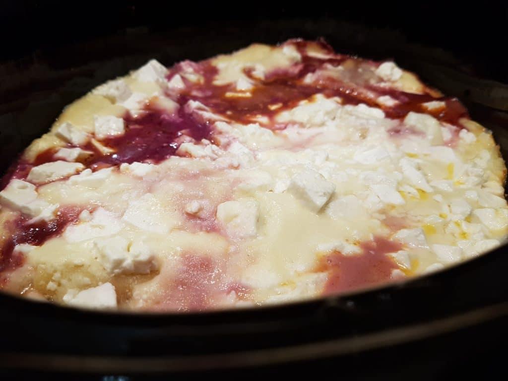 Rödkålslasagne i slow cooker