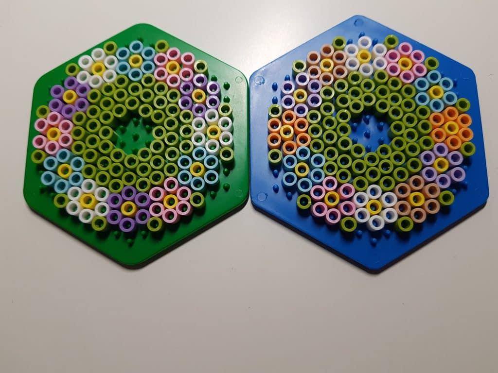Pärlplattor till glas mall